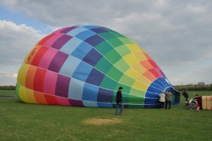 Ballonhlle Aufbau