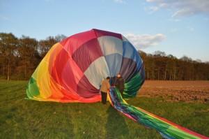 Ballonhülle Abbau